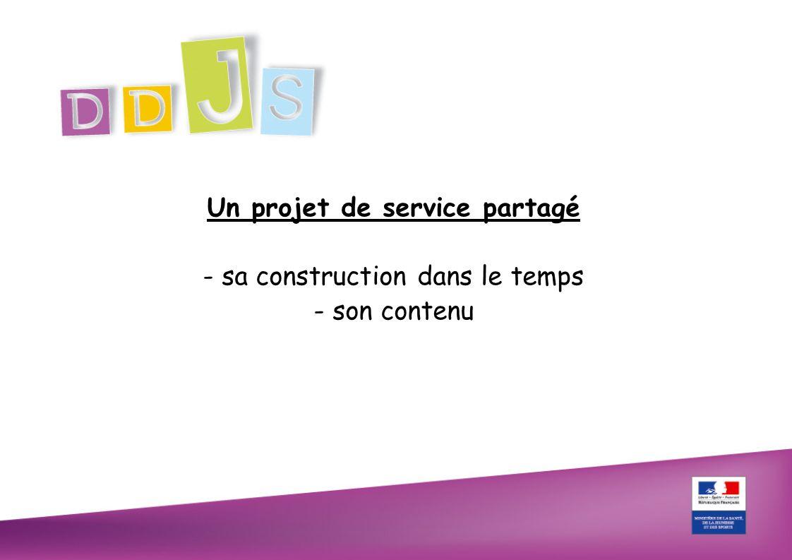 Un projet de service partagé - sa construction dans le temps - son contenu