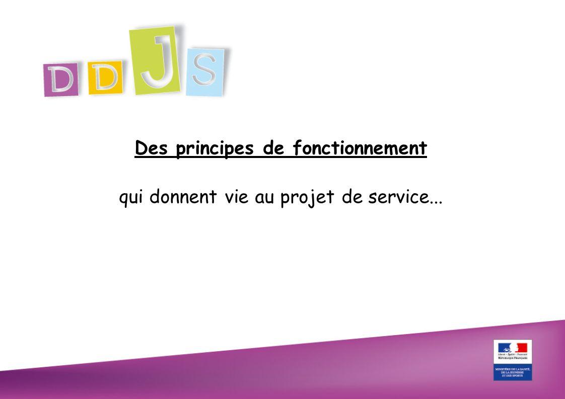 Des principes de fonctionnement qui donnent vie au projet de service...