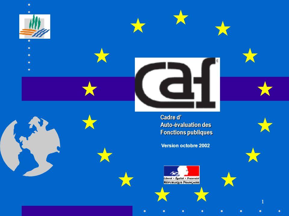 1 Cadre d Auto-évaluation des Fonctions publiques Version octobre 2002