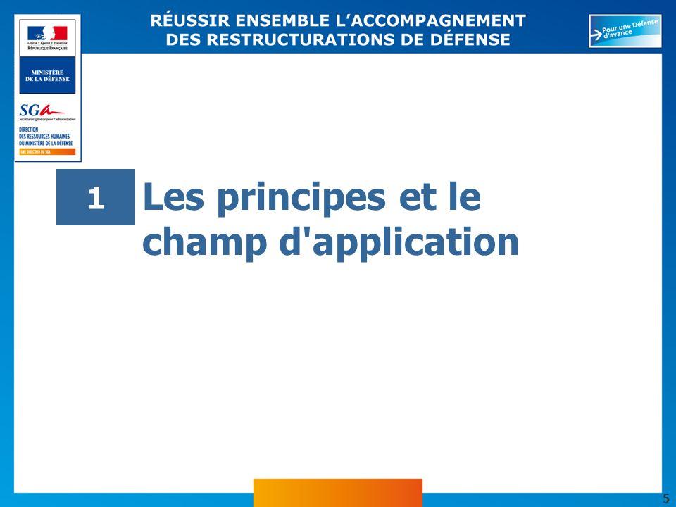 5 Les principes et le champ d'application 1