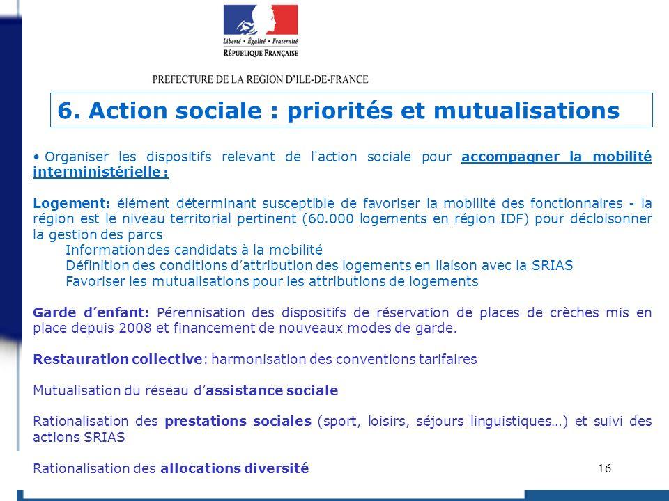 16 Organiser les dispositifs relevant de l'action sociale pour accompagner la mobilité interministérielle : Logement: élément déterminant susceptible