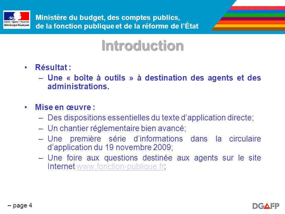Ministère du budget, des comptes publics, de la fonction publique et de la réforme de lÉtat – page 5 Plan 1.