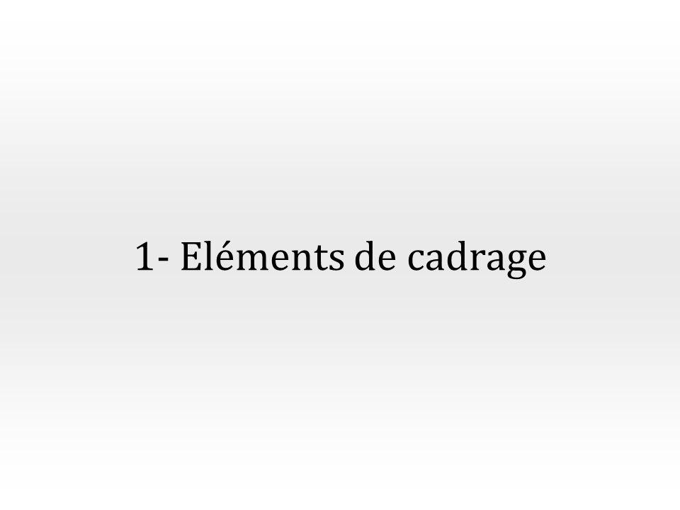 1- Eléments de cadrage