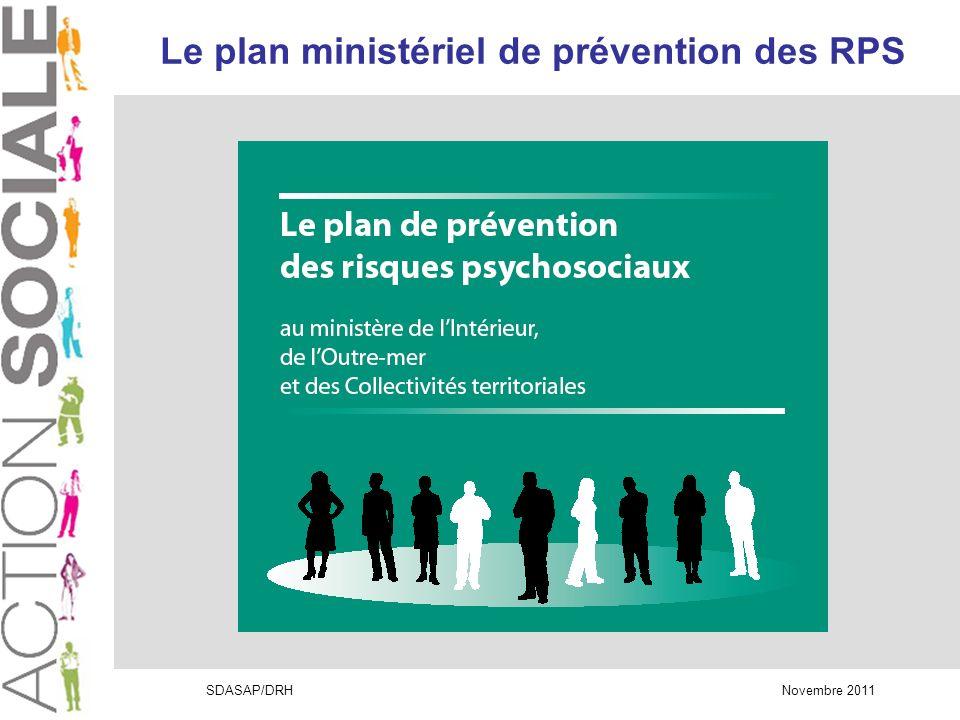 SDASAP/DRH Novembre 2011 Pourquoi un plan de prévention .