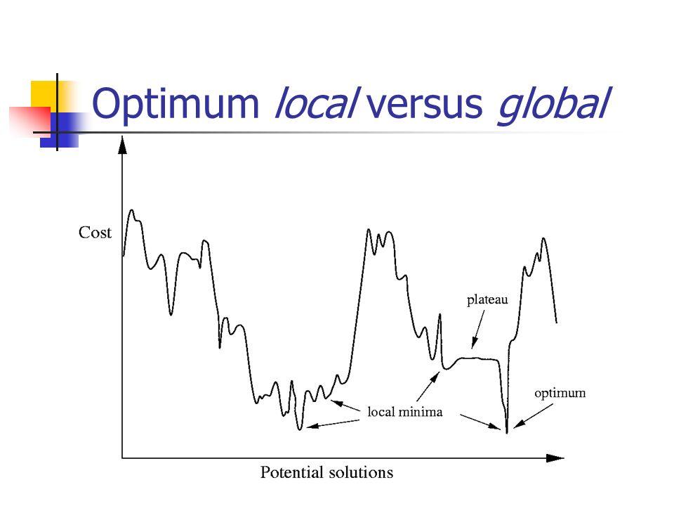 Optimum local versus global