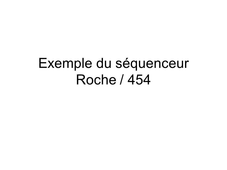 Exemple du séquenceur Roche / 454