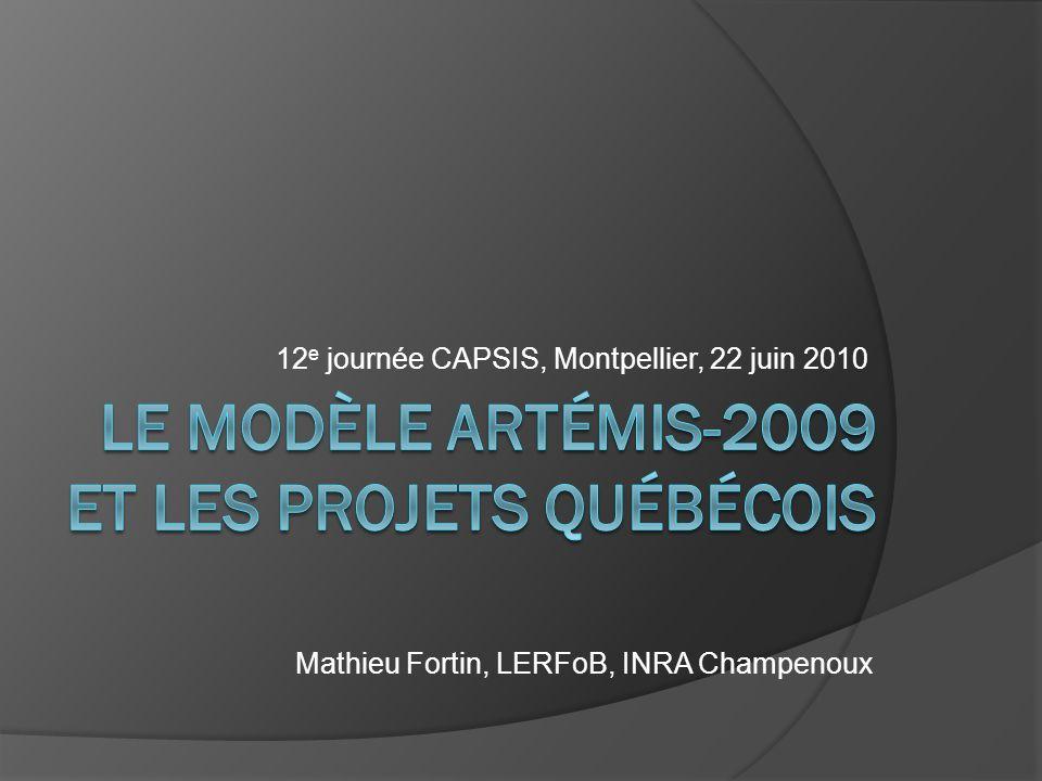 12 e journée CAPSIS, Montpellier, 22 juin 2010 Mathieu Fortin, LERFoB, INRA Champenoux