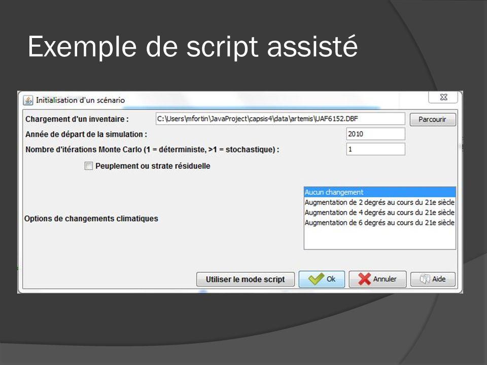 Exemple de script assisté