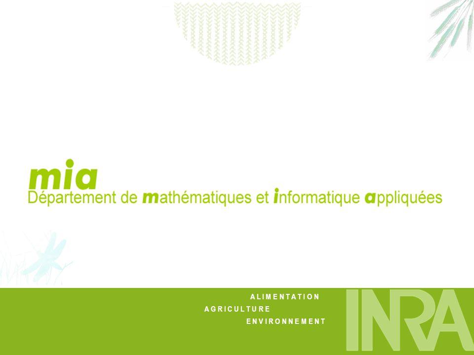 Journées INRA-INRIA Mai 2007 Présentation générale du département MIA Quelques exemples de réalisations Eléments de cohérence et complémentarité avec lINRIA