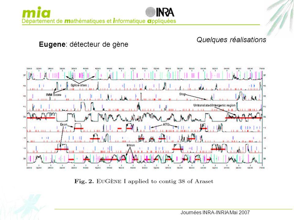 Journées INRA-INRIA Mai 2007 Quelques réalisations Eugene: détecteur de gène