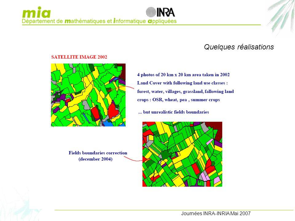 Journées INRA-INRIA Mai 2007 Projets et réalisations Quelques réalisations