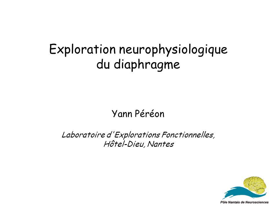 Exploration neurophysiologique du diaphragme Yann Péréon Laboratoire d'Explorations Fonctionnelles, Hôtel-Dieu, Nantes