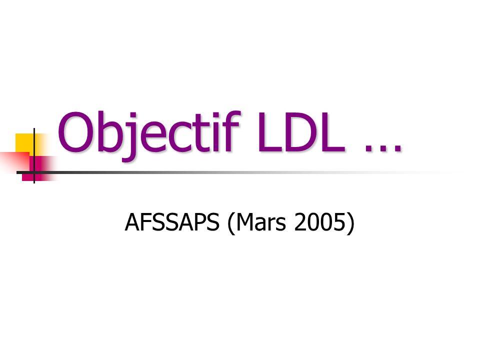 Objectif LDL … AFSSAPS (Mars 2005)