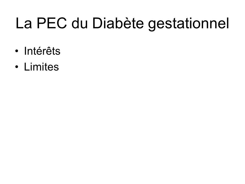 La PEC du Diabète gestationnel Intérêts Limites