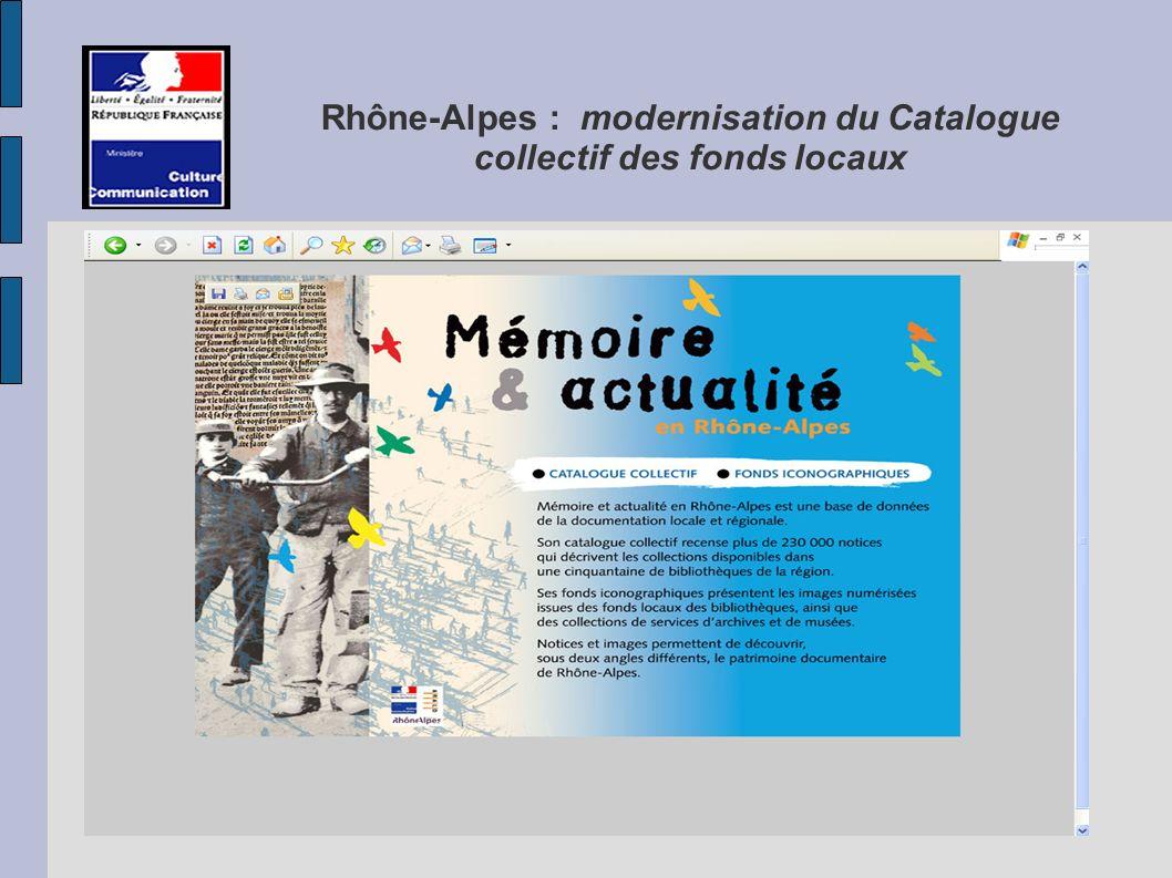 Rhône-Alpes : modernisation du Catalogue collectif des fonds locaux