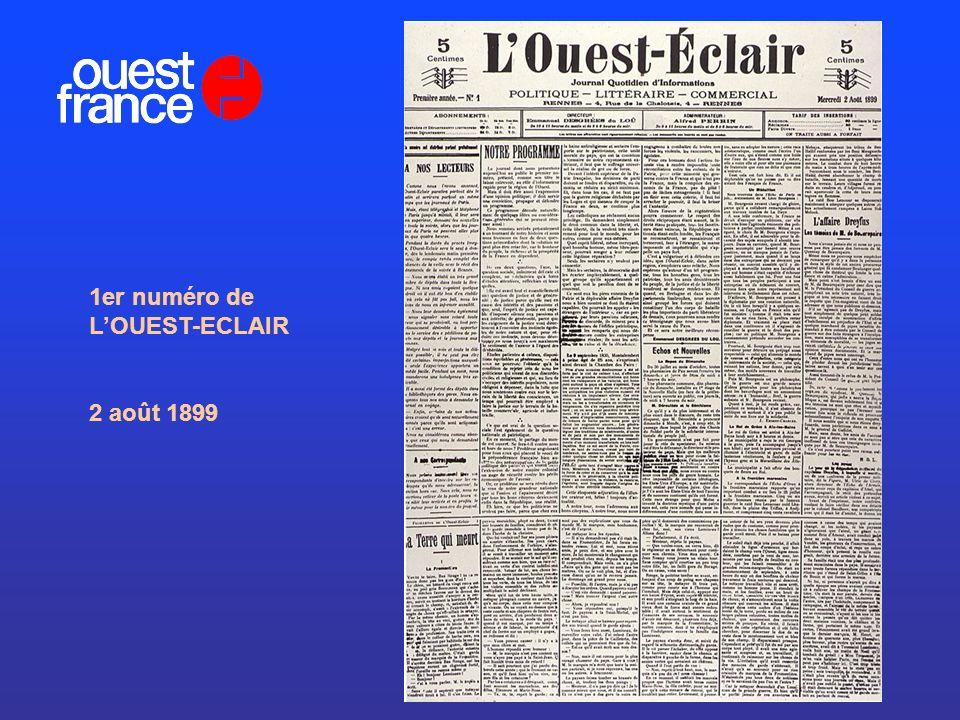 1er numéro de LOUEST-ECLAIR 2 août 1899