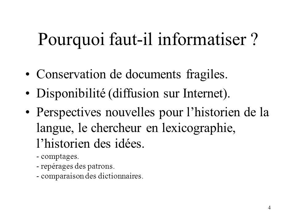 4 Pourquoi faut-il informatiser .Conservation de documents fragiles.