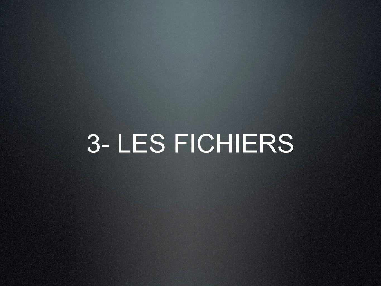 3- LES FICHIERS