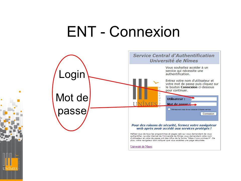 ENT - Connexion Login Mot de passe