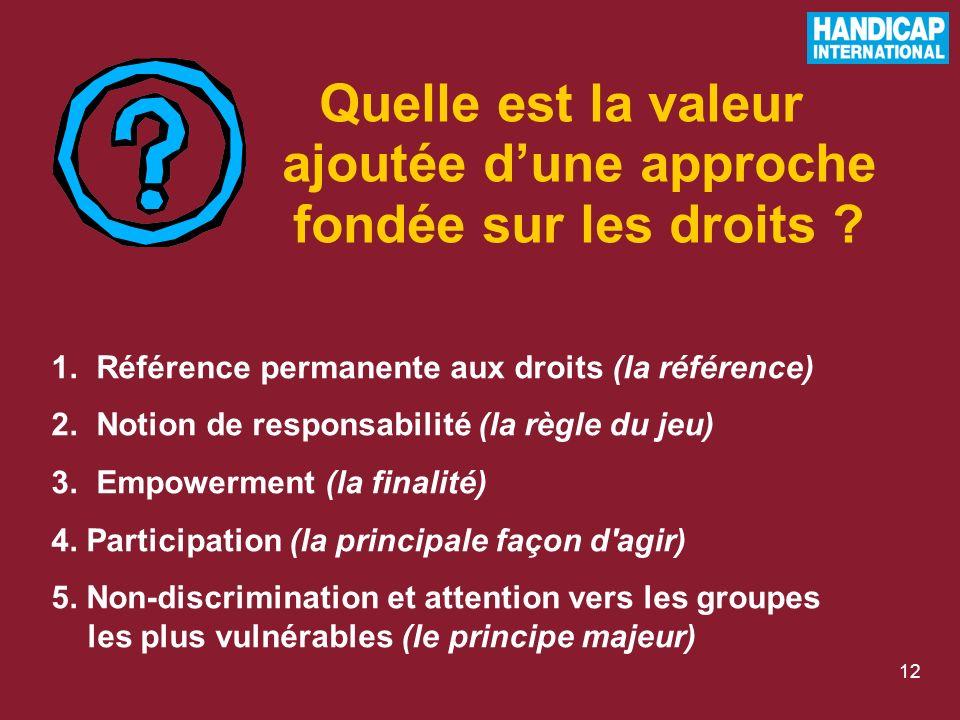 12 Quelle est la valeur ajoutée dune approche fondée sur les droits .