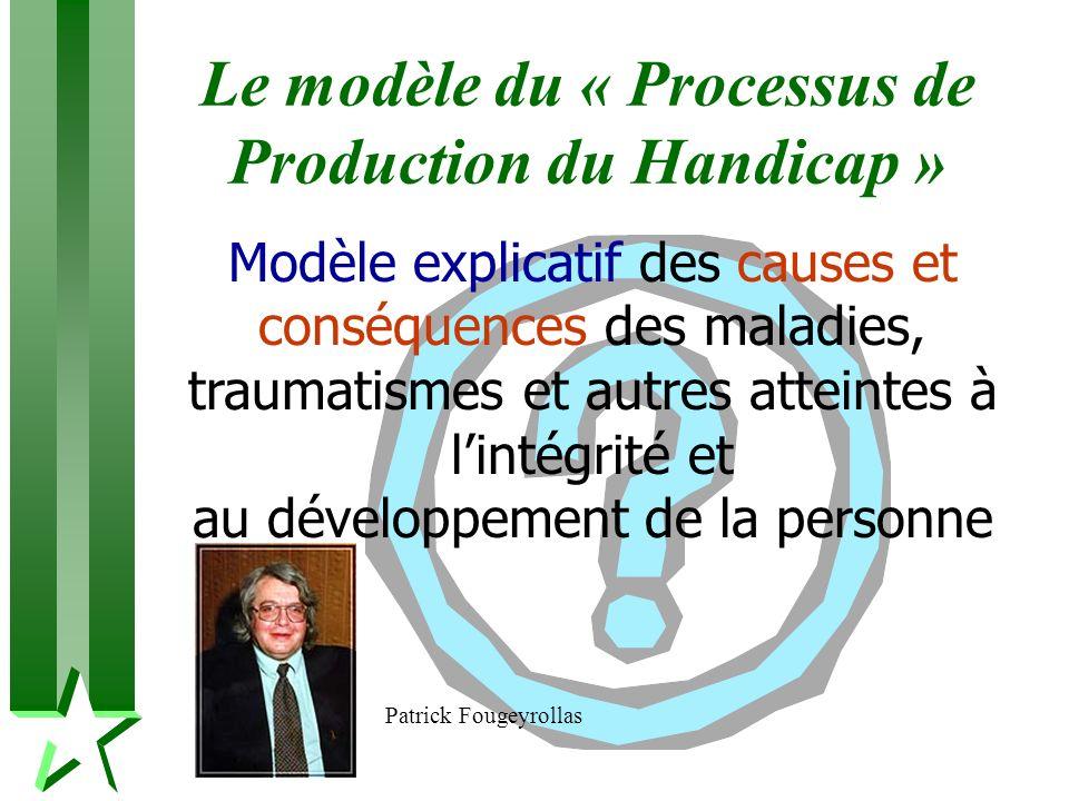 Le modèle du « Processus de Production du Handicap » Modèle explicatif des causes et conséquences des maladies, traumatismes et autres atteintes à lin