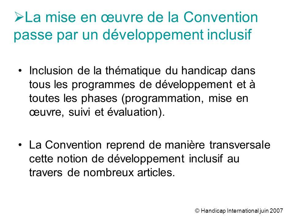 © Handicap International juin 2007 2.