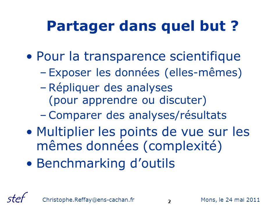 3 Mons, le 24 mai 2011Christophe.Reffay@ens-cachan.fr De quelles données parle-t-on .