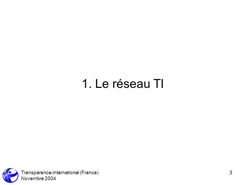 Transparence-International (France) Novembre 2004 14 4.1Quel contenu pour un programme anti-corruption .