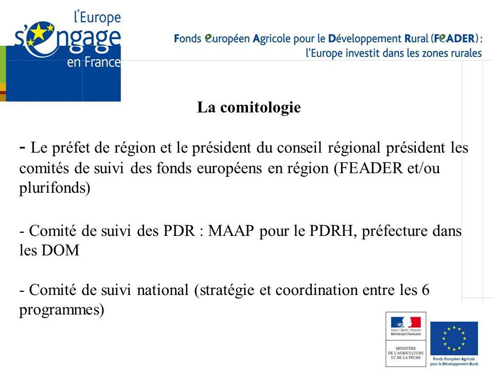 La comitologie - Le préfet de région et le président du conseil régional président les comités de suivi des fonds européens en région (FEADER et/ou pl