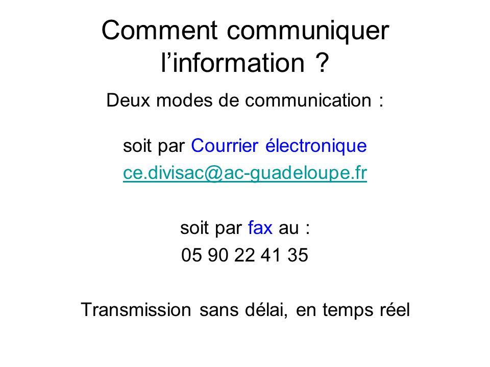 Comment communiquer linformation .