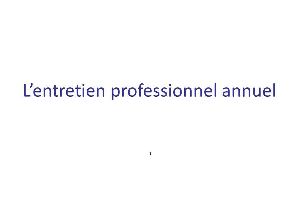 Lentretien professionnel annuel I