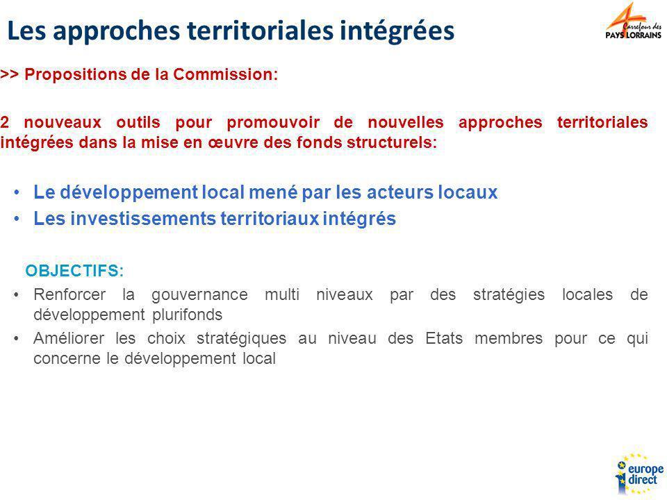 >> Propositions de la Commission: 2 nouveaux outils pour promouvoir de nouvelles approches territoriales intégrées dans la mise en œuvre des fonds str