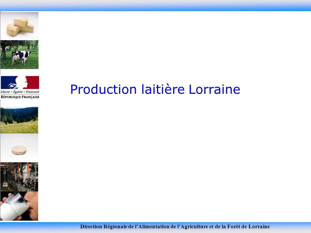 Direction Régionale de lAlimentation de lAgriculture et de la Forêt de Lorraine Production laitière Lorraine