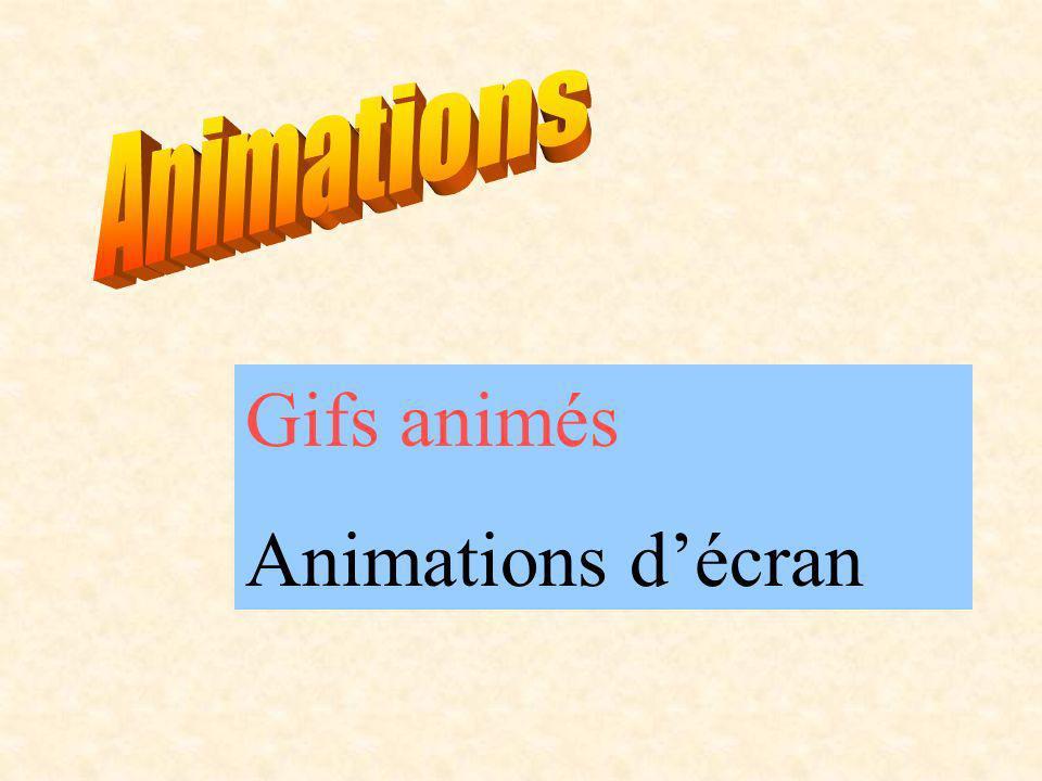 Gifs animés Animations décran