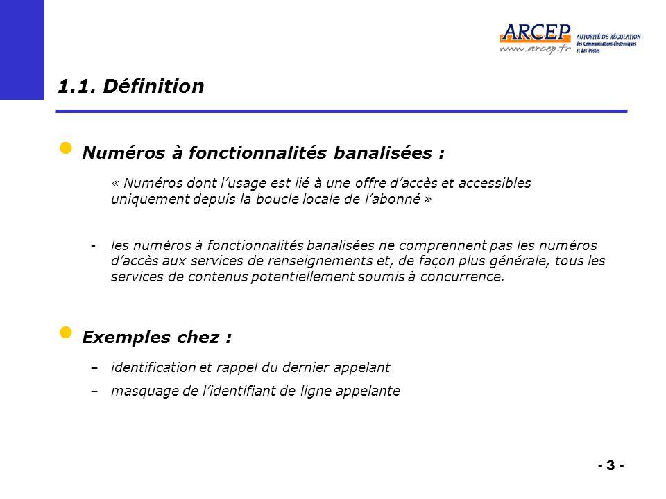 - 3 - 1.1. Définition Numéros à fonctionnalités banalisées : « Numéros dont lusage est lié à une offre daccès et accessibles uniquement depuis la bouc
