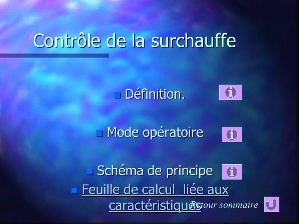 Technologie du circuit frigorifiqueTechnologie du circuit frigorifique……………… Technologie du circuit frigorifique Contrôle de la surchauffeContrôle de la surchauffe………………………...