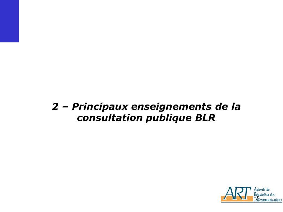 5 2 – Principaux enseignements de la consultation publique BLR