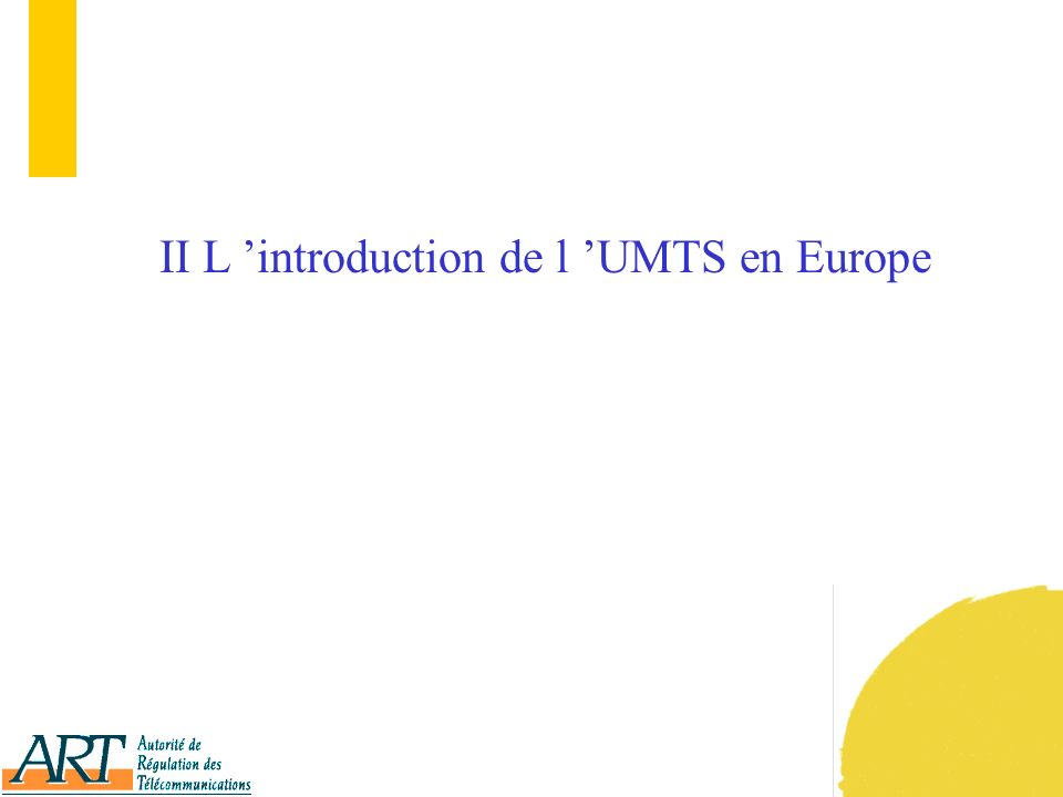 10 II L introduction de l UMTS en Europe