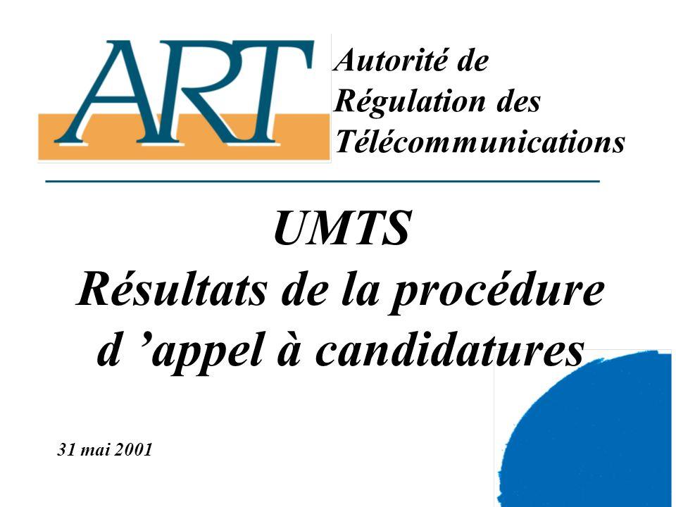 3 L UMTS - 31 mai 2001 publication des résultats par l Autorité de régulation des télécommunications Plan de la présentation - LUMTS et l évolution du marché des télécommunications mobiles - Lintroduction de l UMTS en Europe - Les modalités d introduction de l UMTS en France métropolitaine - Les résultats