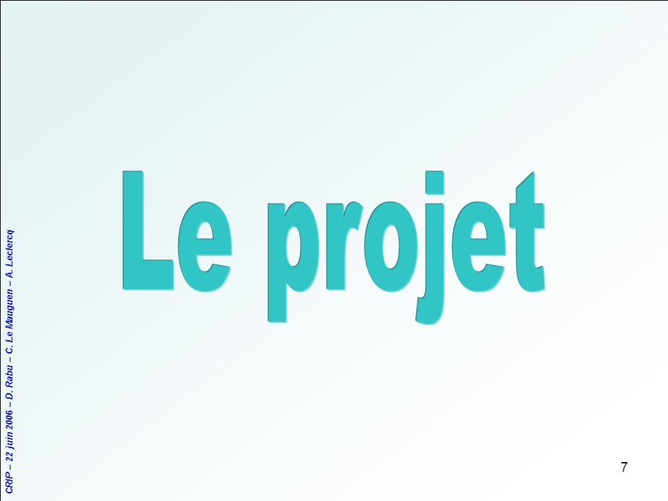 CRIP – 22 juin 2006 – D. Rabu – C. Le Mauguen – A. Leclercq 7
