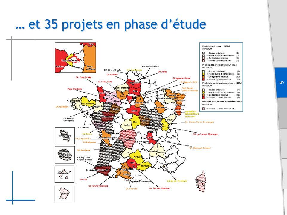 5 … et 35 projets en phase détude