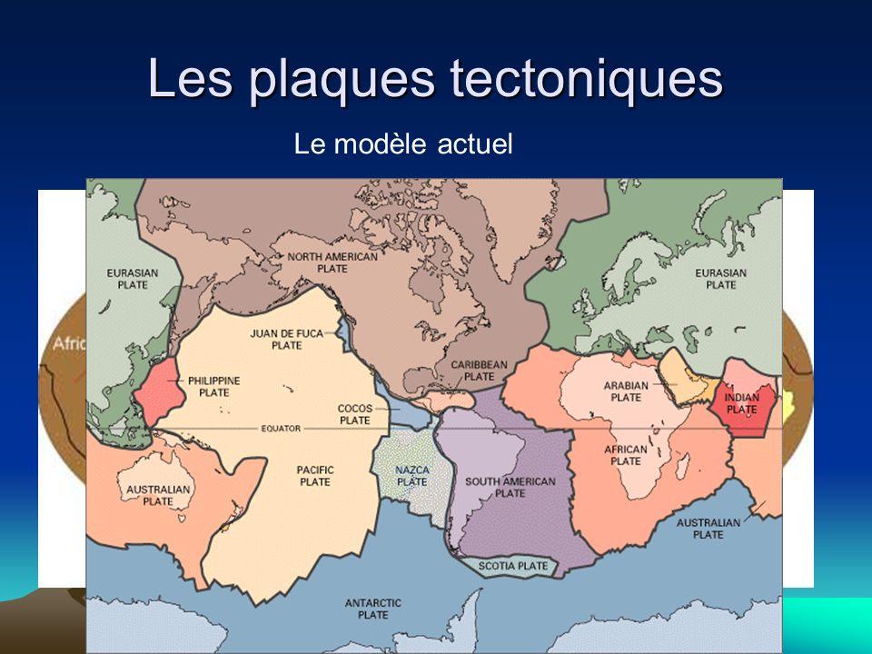 Les plaques tectoniques Le modèle actuel