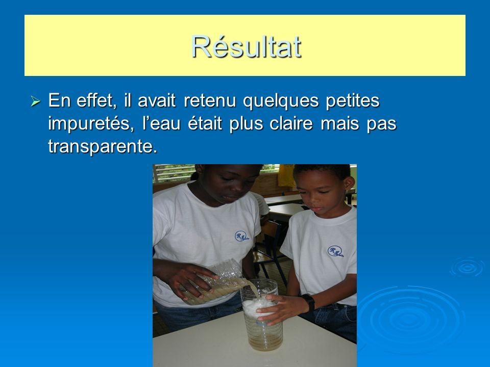 Cinquième hypothèse Nous avons proposé le liquide vaisselle.