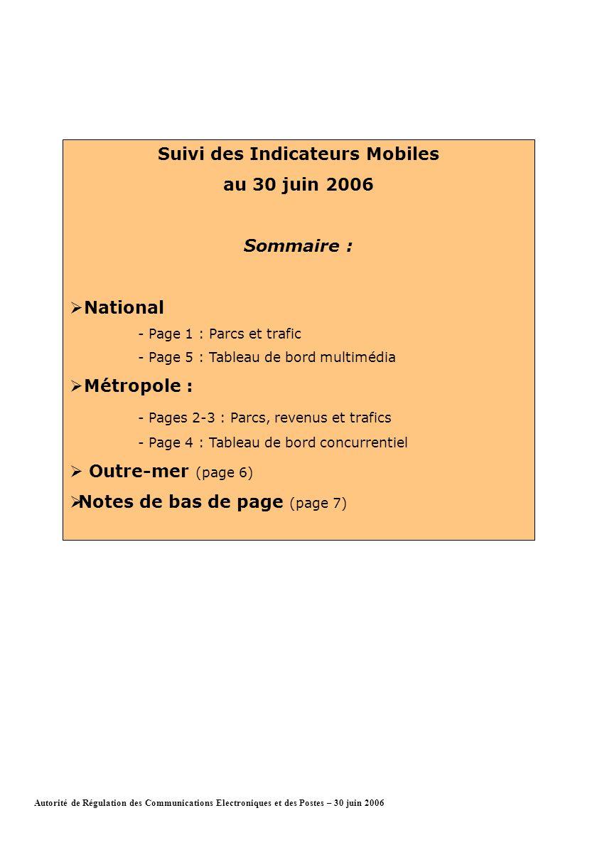 Page 1Autorité de Régulation des Communications Electroniques et des Postes – 30 juin 2006