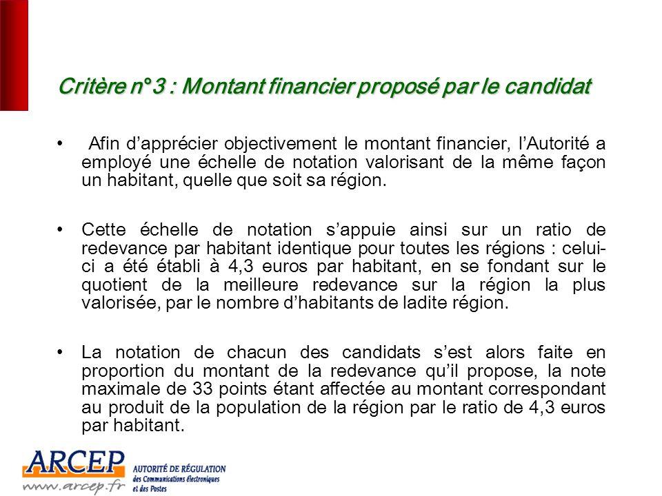 16 Critère n°2 : Aptitude du projet à favoriser la concurrence sur le haut débit LAutorité a examiné : Léventuelle position pré-existante du candidat