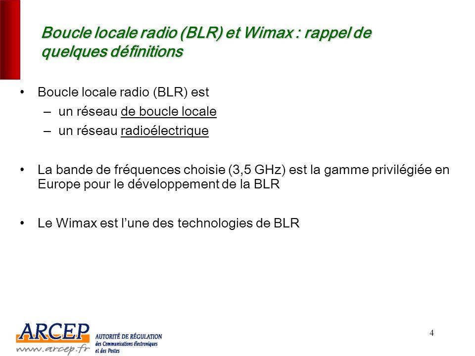 3 1.Le contexte et les enjeux de la boucle locale radio (Wimax)
