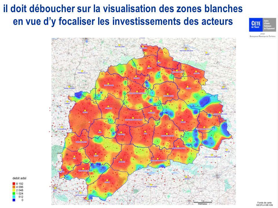 il doit déboucher sur la visualisation des zones blanches en vue dy focaliser les investissements des acteurs
