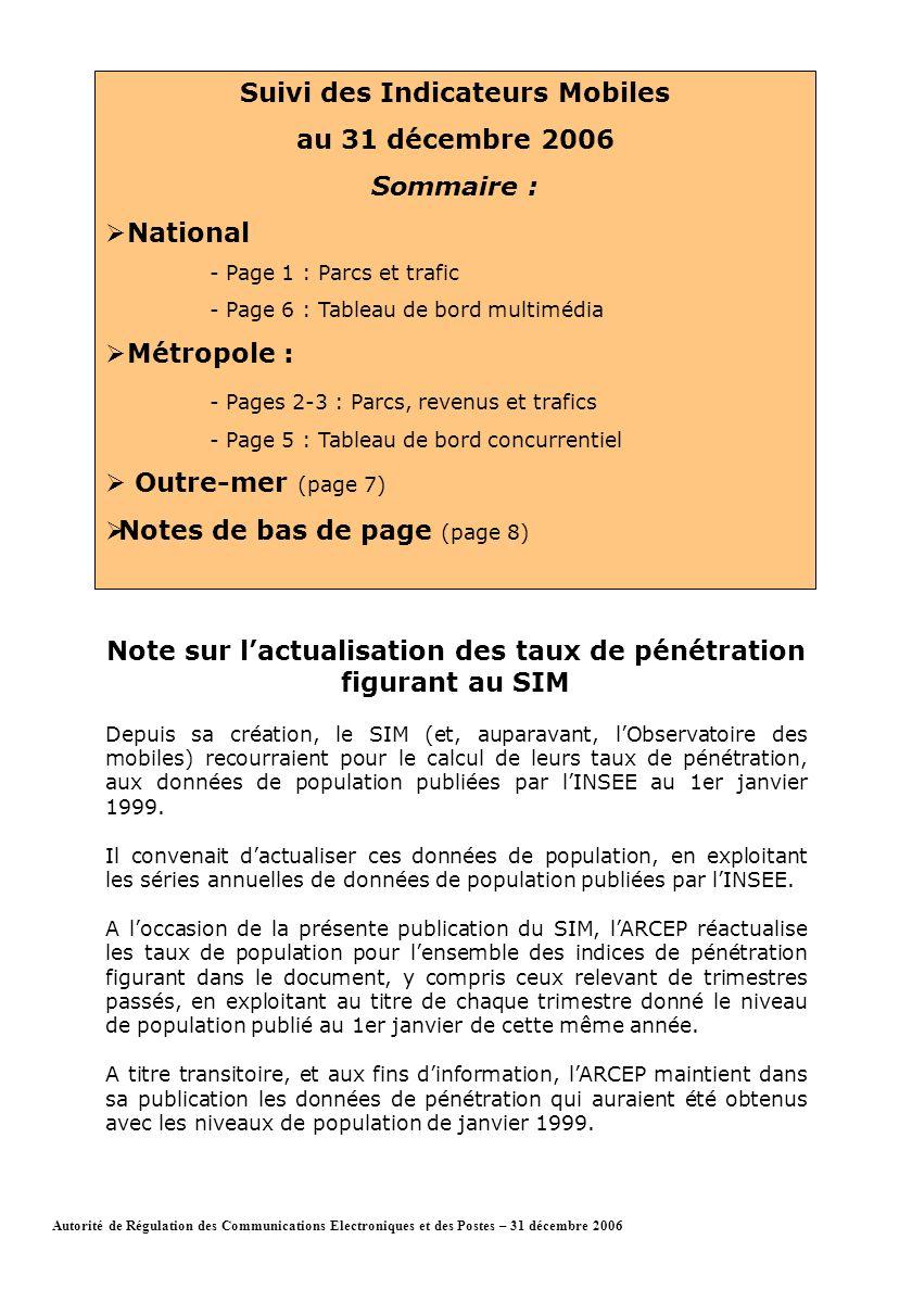 Page 1Autorité de Régulation des Communications Electroniques et des Postes – 31 décembre 2006