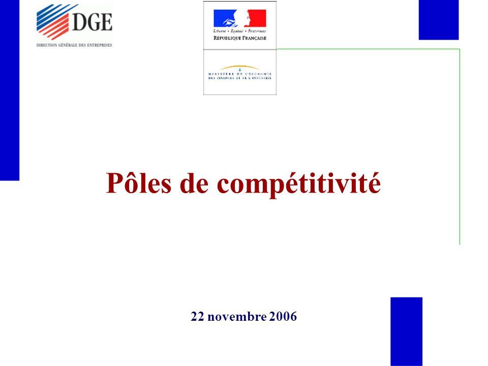Pôles de compétitivité 22 novembre 2006