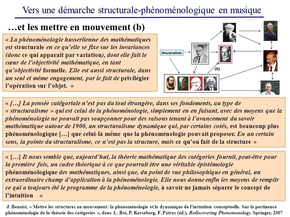 « La phénoménologie husserlienne des mathématiques est structurale en ce quelle se fixe sur les invariances (donc ce qui apparaît par variation), dont
